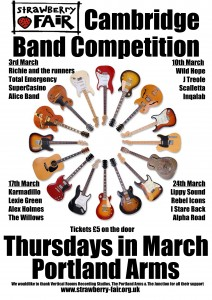 Band Comp 2011 Heats Poster