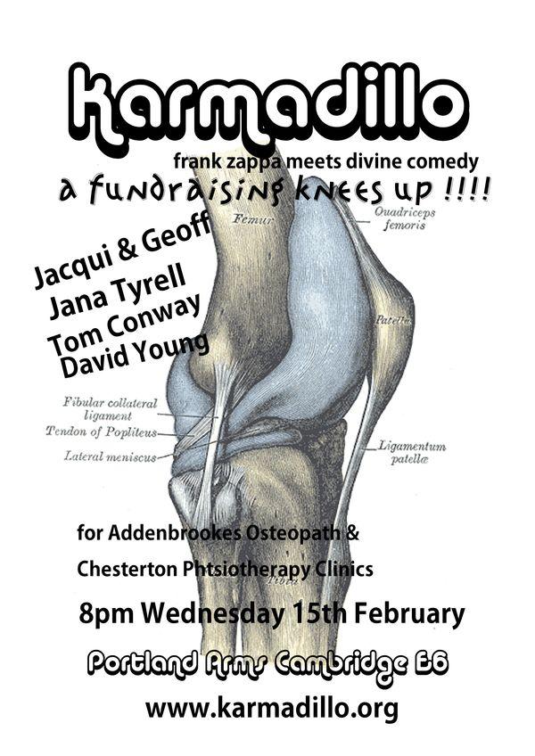 Fundraising for Addenrookes/Chesterton gig flyer